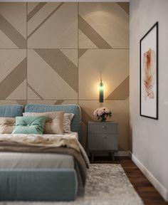виз спальни visualization of the bedroom on Behance Modern Bedroom Design, Home Room Design, Master Bedroom Design, Suites, Luxury Home Decor, Living Room Modern, Luxurious Bedrooms, Beautiful Bedrooms, Room Interior