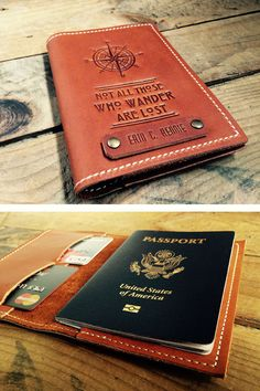 Leather Passport Cover Travel Passport by CurtisMatsko on Etsy