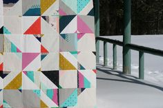 gorgeous double gauze (bespoke) quilt by FITF