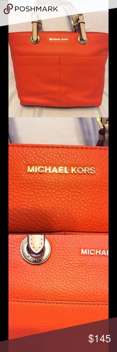 MICHAEL Michael Kors Bedford MICHAEL Michael Kors Bedford in Clementine medium pocket tote. Brand  new never carried kept in bag since purchase! MICHAEL Michael Kors Bags Totes