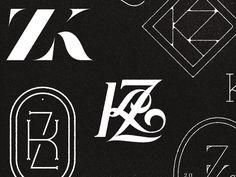 KZ Monogram by Tim Praetzel #Design Popular #Dribbble #shots
