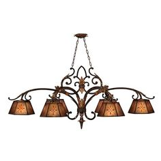 Fine Art Lamps 302540 6 Light Villa Chandelier This product from Fine Art Lamps is available in a rich umber finish. Illuminated by six 100-watt frosted