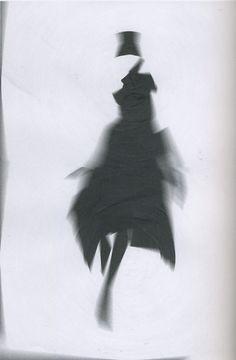 "Mascia Pierre-Louis for Yohji Yamamoto.    Collage, paper, Photoshop.    Artist's Collection    (Source: ""Fashion Illustration Next"" by Laird Borrelli, 2004)"