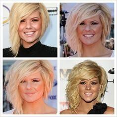 Kimberly Caldwell. Love her hair!