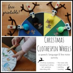 Freebie Friday! Christmas Clothespin Wheels