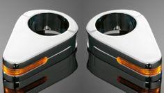 Chrome Fork Turnsignal Indicators Pair Motorcycle Harley Chopper Custom 68 613   eBay
