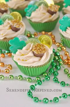 Irish Cream Cupcakes with Bailey's Butter Cream Icing by Serendipity Refined