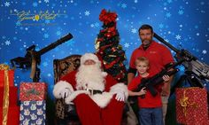 Nothing represents the meaning of Christmas quite like children with automatic weapons. ;)
