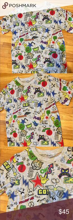 New Stella McCartney Kids Boys RAD t shirt 12 yrs Brand new, never worn. Retailed for $100 from Saks. Shirts & Tops Tees - Short Sleeve