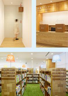 鴻巣市立図書館 2010 埼玉県鴻巣市の鴻巣中央図書館の サインデザインを担当。