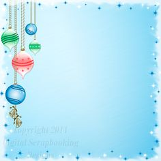"""Layout SP 4A.....Stacked Paper, Blue, Digital Scrapbooking, Christmas Time Collection, 12"""" x 12"""", 300 dpi, PNG File Format"""