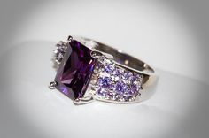 Stunning! AAA Cubic Zirconia Ring ..Size 8 1/2