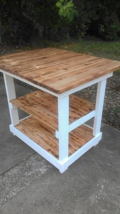 KITCHEN ISLAND Bar Multi Functional Tall Wood by UniquePrimtiques, $399.95