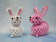 Paper rabbits.