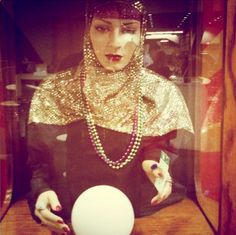 A vintage Fortune Teller machine ~ love the wardrobe for costume. ~ KH