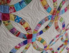 Double Wedding Ring Quilt - detail