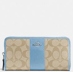 Coach Signature PVC Leather Accordion Zip Around Wallet F54630. Free shipping and guaranteed authenticity on Coach Signature PVC Leather Accordion Zip Around Wallet F54630New Coach Signature PVC Leather Accordion Zip Wall...