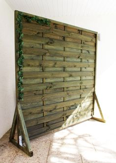 Sichtschutz Paravent Garten Balkon selber bauen Anleitung DIY fertig 2 Kopie