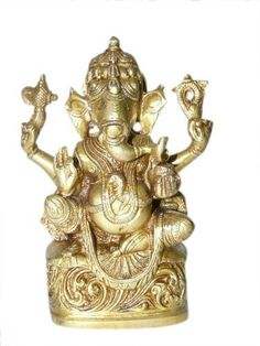 Seated Ganesha Hindu Yoga Sculptures Spiritual Brass Statues From India 7 Inches by Mogul Interior, http://www.amazon.com/dp/B00CHY4HH4/ref=cm_sw_r_pi_dp_0S9Mrb1TFPQDD