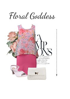 'Floral Goddess' by me on Limeroad featuring Floral Multi Color Dresses with Beige Sandals