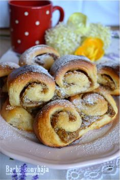Barbi's kitchen: walnut twin screws Hungarian Cuisine, Hungarian Recipes, Hungarian Food, Poppy Cake, Bread Dough Recipe, Sweet Cookies, Food N, Spring Rolls, Sweet Bread