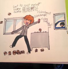 The burger song by bluefoxghost gt gt gt why does johnny have orange hair