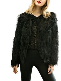 Simplee Apparel Womens Winter Warm Fluffy Faux Fur Coat Jacket Outwear Tag Size XL  US 810 BlackBlack810 -- You can get additional details at the image link. (This is an affiliate link)