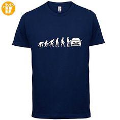 Evolution of Man - Clio Fahrer - Herren T-Shirt - Navy - XXL - T-Shirts mit Spruch | Lustige und coole T-Shirts | Funny T-Shirts (*Partner-Link)