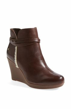 UGG® Australia 'Alexandra' Water Resistant Suede Wedge Boot (Women) available at #Nordstrom