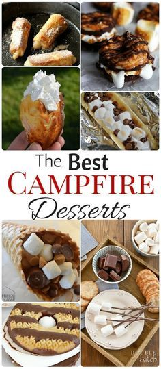 Desserts – Easy Camping Dessert Reipes - Smores Nothing better than desserts around the campfire! Pinning this for my next camping trip!Nothing better than desserts around the campfire! Pinning this for my next camping trip!