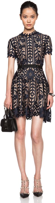 self-portrait Lace A-Line Dress