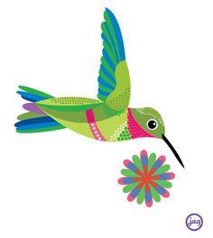 Love hummingbirds!