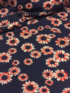 Fiber :Polyester Lycra Blend Purpose : garment/Projects  Color: Navy Blue/Pink/White  Weight: Light/Thin Width:58    This Listing is for 2 Yards of