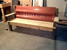 Black Ford Tailgate bench by TailgateGuy on Etsy