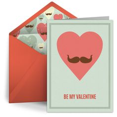 Mustache Valentine from Punchbowl