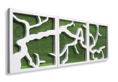 Quadros decorativos esculpido em relevo - Galhos
