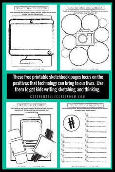 Sketchbook Ideas and Printables for the Technology Lover - The Kitchen Table Classroom