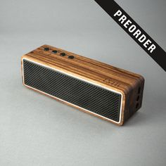 Zebra Wood Apollo Bluetooth Speaker by LSTN