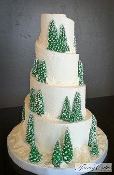 Snow Ski Wedding Cake