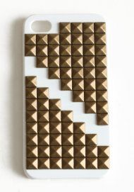 Double Pyramid Studded iPhone Case