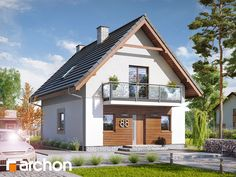 Dom w sasankach 3 - Przytulny dom jednorodzinny z poddaszem użytkowym z kolekcji: projekty domów nowoczesnych.
