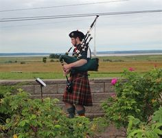 Make sure you stop at the Visitor Information Center in Amherst as you cross into Nova Scotia from New Brunswick.  A piper will be there to welcome you!!