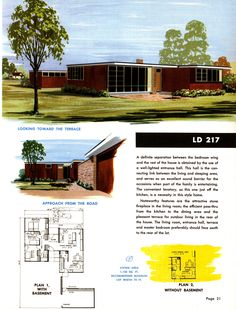 LD 217 - Small Homes Council Research Designed Homes Modern Floor Plans, Modern House Plans, Modern House Design, House Floor Plans, Modern Garage, Modern Houses, Tiny Houses, Ultra Modern Homes, Mid-century Modern