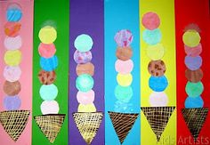 Kids Artists: I scream for ice cream (I'm a little obsessed with food imagery- I blame Wayne Thiebaud)