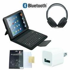 Premium Package for iPad Mini! The premium package has the high quality leather case which has Bluetooth keyboard, scratch free screen protector to protect your iPad mini and high quality bluetooth wireless headphones. They also come with universal wall charger with usb out for to charge any phones or tablets you want.'