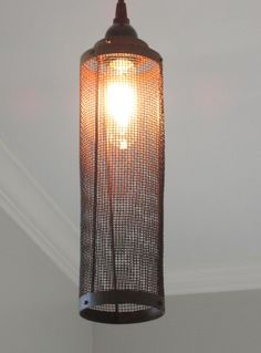 industrial bathroom lighting etsy. wire mesh industrial pendant light by outofthewdworkdesign on etsy bathroom lighting u