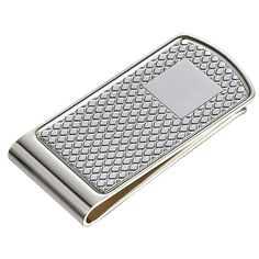 Features Stainless Steel Strong and Sturdy with Silver Plating and Diamond Pattern. Strong Metal body with Spring tension grip to hold 10 dollar bills and credit cards. Great Gift for Men: For Gra Money Clip Wallet, Money Clips, Wall Clock Hands, Great Gifts For Men, Metal Projects, Food Gifts, Groomsman Gifts, Diamond Pattern, Silver Plate