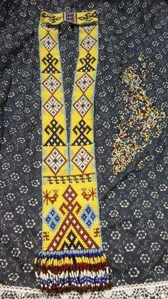"""Купить Гайтан ( гердан) из бисера тканый """"Роженица """" - разноцветный, орнамент, гайтан"""