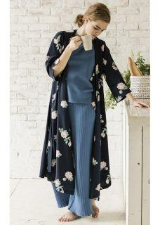 Emma FLOWER KIMONO GOWN DRESS