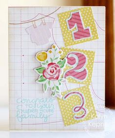 Card by PS DT Kalyn Kepner using the PS Pip Squeaks stamp set and the Digits and Numbers dies